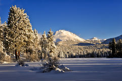 After a winter snowstorm, Lassen Peak, Lassen Volcanic National Park Royalty Free Stock Photography