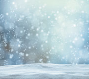 Winter snowy abstract background royalty free stock photo