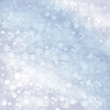 Winter snowy abstract background Stock Image