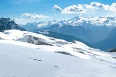 Winter snowy alpine landscape Stock Photo