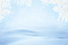 Winter Snowy Background Stock Photos
