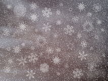 Winter snowy dark day background - 3D render Royalty Free Stock Photo