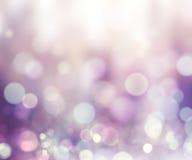 Winter snowy defocused lights violet illustration. Royalty Free Stock Photography