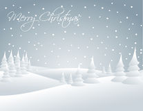 Winter snowy landscape. Snow falling on the trees Royalty Free Stock Images