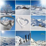 Winter snowy landscape collage Stock Photo