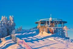 Winter snowy landscape, Postavaru Brasov. Mountain Landscape stock images