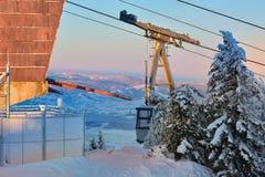 Winter snowy landscape, Postavaru Brasov. Mountain Landscape stock photo