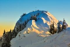 Winter snowy landscape, Postavaru Brasov. Mountain Landscape stock photos