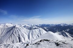 Winter snowy mountains. Panoramic view Stock Image