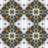 Winter snowy pine wreath seamless repeating background pattern Royalty Free Stock Image