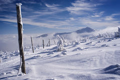 Winter snowy ridge Stock Photography