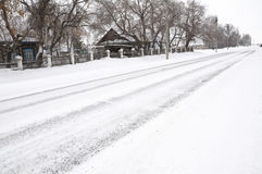 Winter  snowy road Stock Images