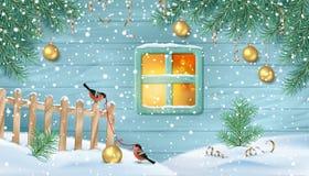 Winter Snowy Scene stock illustration