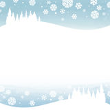 Winter snowy sky. Winter snowy landscape - illustration royalty free illustration