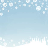 Winter snowy sky. Winter snowy landscape - vector illustration vector illustration