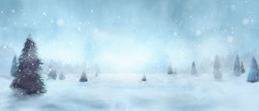 Winter snowy trees royalty free stock photos