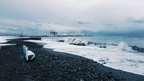Winter in Sochi. Snow and sea Stock Photography