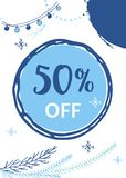 Winter social media sale banners and ads, web template collectio. N.  Christmas  illustration for mobile website posters, email and newsletter designs Royalty Free Stock Photography
