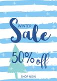 Winter social media sale banners and ads, web template collectio. N.  Christmas  illustration for mobile website posters, email and newsletter designs Stock Photography