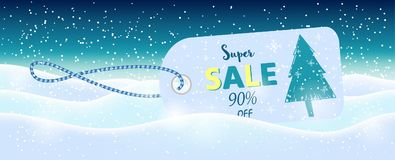 Winter social media sale banners and ads, web template collectio. N.  Christmas  illustration for mobile website posters, email and newsletter designs Royalty Free Stock Image