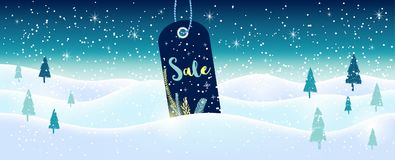 Winter social media sale banners and ads, web template collectio. N.  Christmas  illustration for mobile website posters, email and newsletter designs Stock Image
