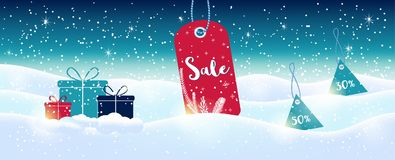 Winter social media sale banners and ads, web template collectio. N.  Christmas  illustration for mobile website posters, email and newsletter designs Stock Photo