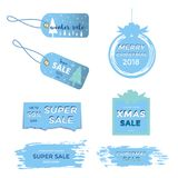 Winter social media sale banners and ads, web template collectio. N.  Christmas  illustration for mobile website posters, email and newsletter designs Royalty Free Stock Images