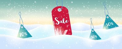 Winter social media sale banners and ads, web template collectio. N.  Christmas  illustration for mobile website posters, email and newsletter designs Royalty Free Stock Photos