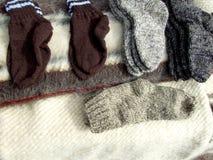 Winter socks Royalty Free Stock Image