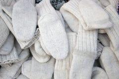 Winter handmade traditional socks royalty free stock photos