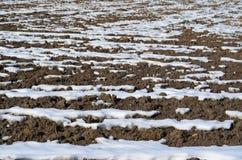 Winter soil structure. Background . northern Bohemia, czech republik Stock Photos