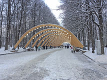 Winter in Sokolniki Park, Moscow. Royalty Free Stock Photography