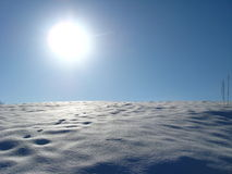 Winter solar landscape Stock Images