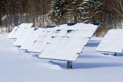 Winter Solar Panels Royalty Free Stock Image