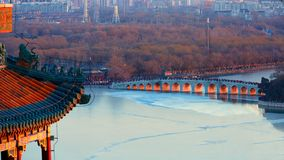 Panorama of Summer Palace, Beijing royalty free stock photo