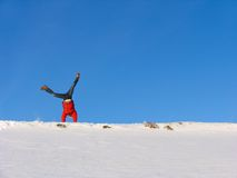 Winter Somersault Royalty Free Stock Photography