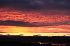 Winter-Sonnenuntergang Lizenzfreie Stockfotografie
