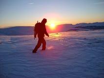 Winter-Sonnenuntergang Lizenzfreies Stockbild