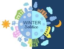 Winter-Sonnenwendeillustration Lizenzfreie Stockbilder