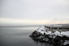 Winter Sopot sea stock photography
