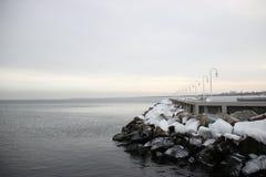Winter Sopot sea. Poland Sopot. Winter Baltic sea. Photo was taken in january 2016 Stock Photography