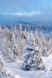 Winter in southern ural. Kumardaque mountain Royalty Free Stock Photo