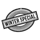Winter Special rubber stamp Stock Photos