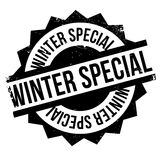 Winter Special rubber stamp Stock Image
