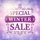 Winter special sale background Stock Photography