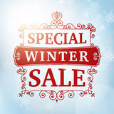 Winter special sale background Royalty Free Stock Images