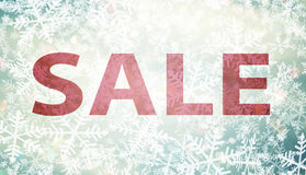 Winter special sale background Stock Images