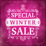 Winter special sale business background Royalty Free Stock Images