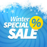 Winter special sale Stock Image