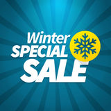 Winter special sale poster. Winter special sale offer poster background Royalty Free Illustration
